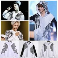 Wholesale New EXO SEHUN LUHAN KAI Overdose hoodies EXO overdose concert bat hoodies zipper casual Personalized hoodies for man women