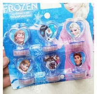 Wholesale In Stock Frozen Anna Elsa Stamper Set Cartoon Character Princess Stamp New Novelty Toy Gifts set Stamps set