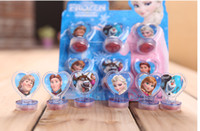 anna stamp - In Stock Snow princess Anna Elsa Stamper Set Cartoon Character Princess Stamp New Novelty Toy Gifts set Stamps