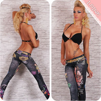 Wholesale Fashion Womens Ladies Denim Jeans Sexy Skinny Leggings large Stretch Pants Trousers