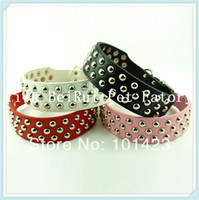 arrival pit bulls - Berry New Arrival Real leather Studded Pit bull Dog Collars