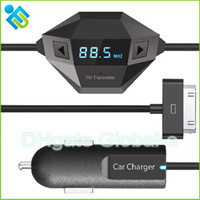 Wholesale Octa Wireless FM Transmitter two models with black color USB Car charging for Iphone Sumsang MI HUAWEI SmartPhone MP3 MP4 FM Transmitter