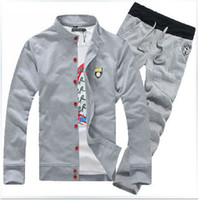 Wholesale New spring men s sports suit sweatshirt men s casual jacket and pants sportwear sports set for men casual set M XXXL
