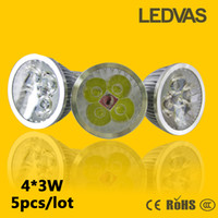 Wholesale LEDVAS W Led Bulbs Gu10 Led Light W GU10 MR16 E27 E14 Led Lights Cree High Power Dimmable Led Bulb Fast Shipping
