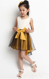 Wholesale New Christmas gift summer frozen elsa anna princess Retail girl print dress brand children casual kids dress clothes party