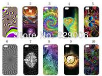 Revisiones Fondos iphone-2013 nueva cubierta dura del caso duro del trippy-fondo del diseño 10pcs / lot para el envío del iPhone 5 5to + free