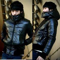 Wholesale Men s Winter Jacket Slim Fashion Hoodies Casual Winter Coat Men Wadded Jacket Winter Coat Winter Snow Wear my03