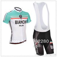 Wholesale 2014 bianchi Cycling jersey Cycling Clothes Cycling wear Cycling short sleeve jersey Bib Shorts Sets B