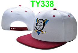 Wholesale Soft Fabric Snapbacks Hats Mighty Duck Adjustable Snapback Hat Cap Top Quality Can Mix Order