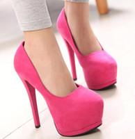 Wholesale Hot Pink High Heels Wedding - Buy Cheap Hot Pink High