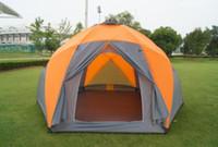 Wholesale set brand new Luxury double layer door tent outdoor tent hexagonal big tent many people tent