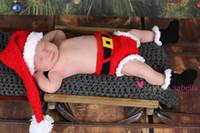 baby santa photos - Hot Sale New Custom made Santa Hat Diaper cover boots Santa Set newborn photo prop Baby first Christmas outfit