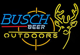 New Busch Beer Outdoor Neon Sign Glass Neon Sign Light
