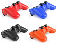 Wholesale Wireless Bluetooth Controller for PS2 PS3 Game Console PC Sixaxis Joystick Gamepad Mini USB Vibration Battery Retail Box Q3