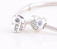 Cheap 925 Sterling Silver Charms 1:1 Original Screw Thread Crimp End LW370 New Arrival Baby Boy Beads Compatible With European Pandora Bracelets