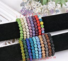 Wholesale Shamballa Crystal Beads Bracelets Macrame Disco Ball Bracelets Jewelry Armband Cheap China Fashion Jewelry wrap charm bracelets DW056