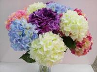 Wholesale Artificial Hydrangea Flower Dia cm Length cm quot Silk Flowers Single Hydrangeas for Wedding Arrangement Home Party Decoration