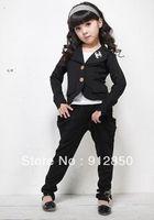 kids sweat suits - sets New Girls chic suit pants Kids GIRLs sweat suit jogging sets Children s suits