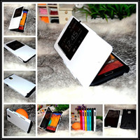Cheap Hot 1pcs Automatic Sleep Wake SGP Slim Armor View phone bags Cases for samsung galaxy note 3 III N9000 original hard matel cover