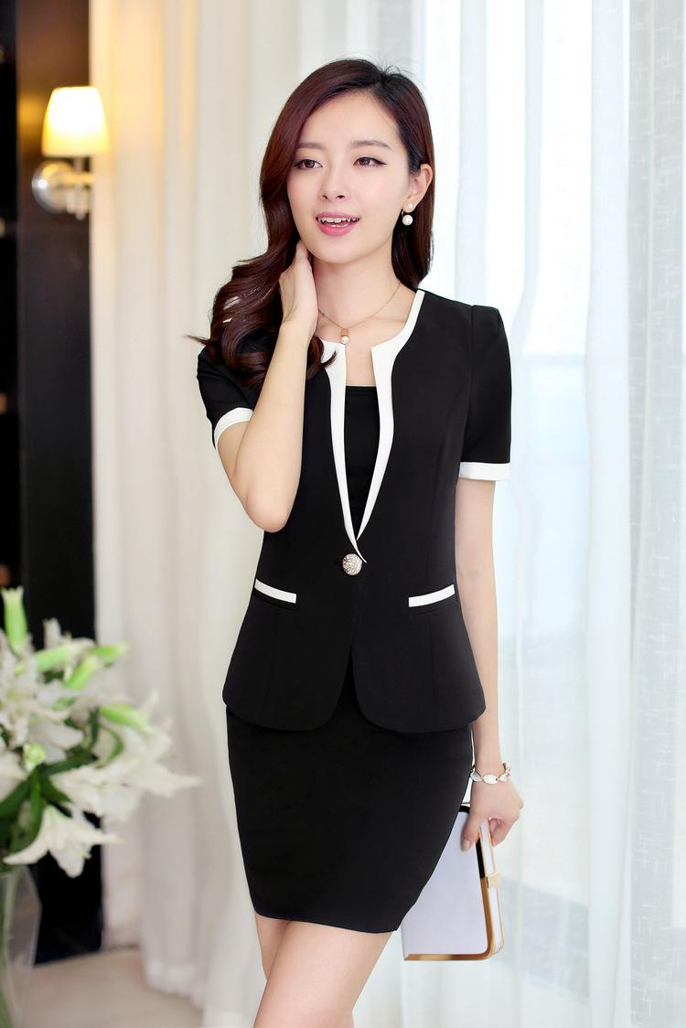 Slim Office Ladies Work Womens Clothing Suits Dress Blue ,black ...