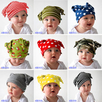 Wholesale desings Cotton double Layer Baby boy hat Classic Winter hat infant fashion cap Christmas headgear