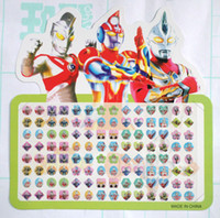 Wholesale 20 Sheets Ultraman cartoon mix Multicolor stick on earring rings stickers Christmas Gift
