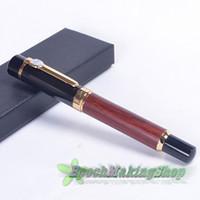 Cheap JINHAO 650 Rare rosewood brown and black Medium NIB 18 KGP Fountain Pen free shipping
