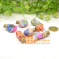 Cheap Wholesale oil bottle glass bottle cork clay bar dispensing bottles of perfume oil supplies beauty salon supplies