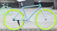 Wholesale Luminous light Fixed Gear Track Bikes male and female inverted brake bicycle inch Optional multi color