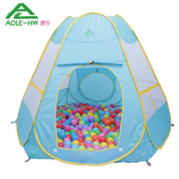 Cheap Six-sided AOLE-HW Kid Tent Super Large Toy Tent House for Children Outdoor Fun& Sports Play House for Kids Baby Toys Child Tent