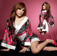 Wholesale Sexy Lingerie Kimono Costume sleepwear Sex Doll Sexy Costumes Fashion Vintage Lingeries Sexy Underwear BH SL0066