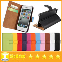 Cheap For Apple iPhone 5/5S leather case for IPHOHE 6 Best Leather White iphone 6 wallet case