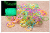 Cheap Hot Sale Jelly Rubber Loom Bands and glow in the dark Refill Loom DIY Refill Kit (200 Bands+8S-Clips +1Hook) Kids Gift 300 bag