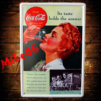 Cheap [ Mike86 ] Its Taste Hold the answer Metal Poster Vintage Wall Decor Painting Bar Tin Sign Art A-528 Mix Order 20*30 CM