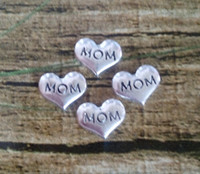 Cheap Hot Sell!Fast Ship! 50pcs lot Wholesale 2014 New Heart MOM Floating Locket Charms For Glass Living Memory Locket E700