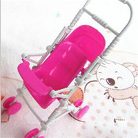 doll furniture - 2014 New Novetly Children Toys Doll Accessories Cute Mini Doll Furniture Toys For Kids Lovely Plastic Doll Cart