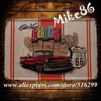 Cheap [ Mike86 ] Mother Road Car Route US 66 Metal Signs Gift PUB Wall art Painting Craft Bar Decor A-831 Mix order 20*30 CM