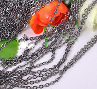 Wholesale 5m silver gold plated cable open link iron metal chain findings colors