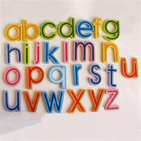 Wholesale 27pcs Wooden English Letters Fridge Magnets Strong Magnetic Refrigerator Early Childhood Education Home Furnishing Decor