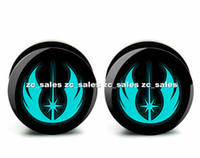 Wholesale wing logo ear plug acrylic screw fit ear plug flesh tunnel body piercing mix size mm mm A0190