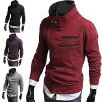basics jacket mens - Mens Warm Fleece Basic CoatS Long Man Motocycle Jackets Winter Outcoat Hoodies nz038