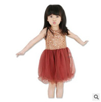 Fashion Girls Tutu Sundress Summer Sleeveless Sequin Princes...