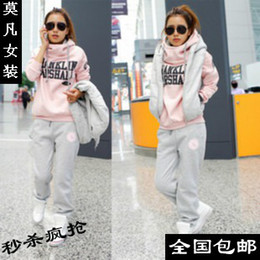 Wholesale Hot Selling Winter Women Hoodies Casual Sportswear Set Warm Thickening sports Suits For Women Hoodies Set size S XXXL