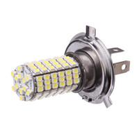 Cheap 2 x Xenon White Parking H4 LED 12V Light Car LED Fog Daytime Running Light Bulbs Lamp 12V High Power Bright White 120 SMD Truck