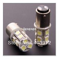 Wholesale 10pcs Car BAY15D Tail Brake LED SMD DC v Turn Signal White Light Bulb Lamp