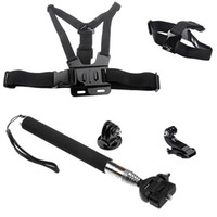 Wholesale New Head Strap Mount Chest Harness Handheld Telescoping Extendable Pole J Hook Mount for Gopro HD Hero ST W0071A