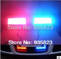 Cheap led car Daytime running lights Strobe Light Flash Warning EMS Police Car Truck Firemen Lamp 2*22 LEDs Blue Red parking light