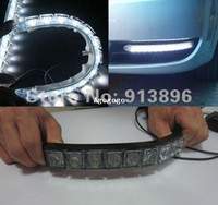 auto strip lights - Flexible light strip x LED light bar auto DRL Lens led lights Waterproof universal daytime lights Pair