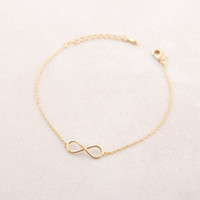 Wholesale 10pcs Gold and Silver infinity Bracelet for lady brass bracelet SL003