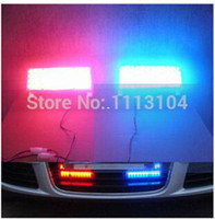 Cheap Daytime running lights Flash Warning lights Strobe Light Police Car Truck Firemen Lamp 2*22 LEDs Blue Red parking light